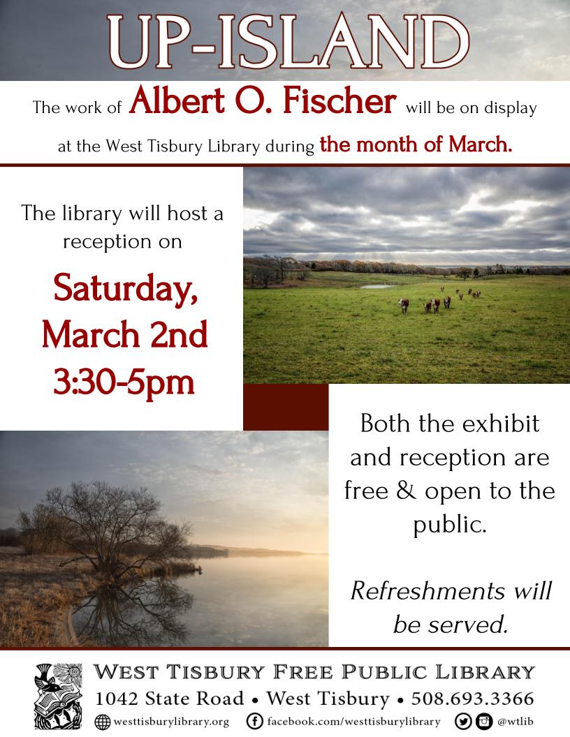 Art Exhibit & Reception featuring Albert O. Fischer