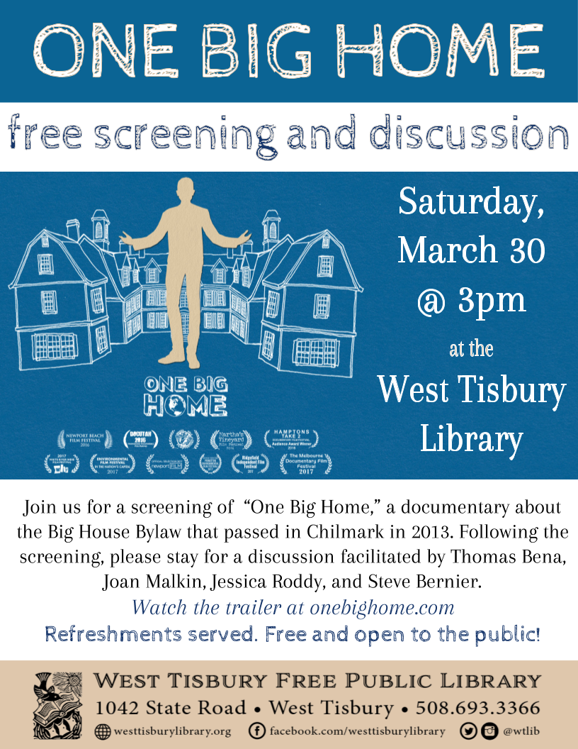 "Film Screening and Discussion: ""One Big Home"""