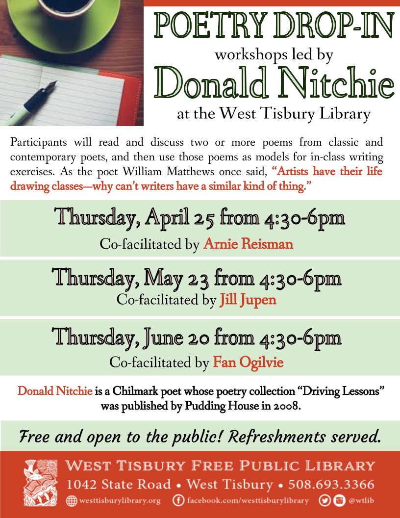Poetry Drop-in with Donald Nitchie