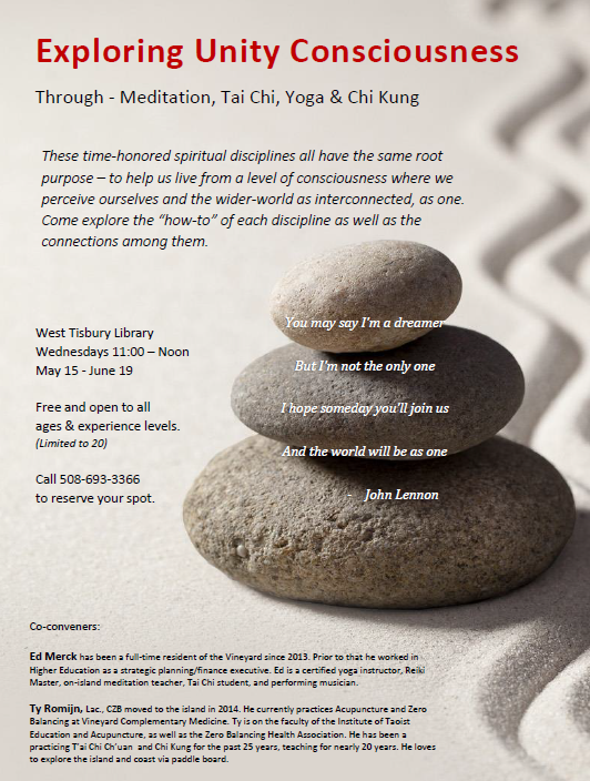 Class full- Exploring Unity Consciousness: Meditation, Tai Chi, Yoga, Chi Kung