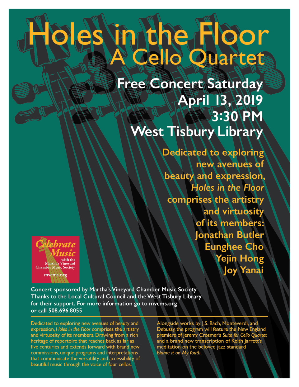 Holes in the Floor: A Cello Quartet | West Tisbury Library