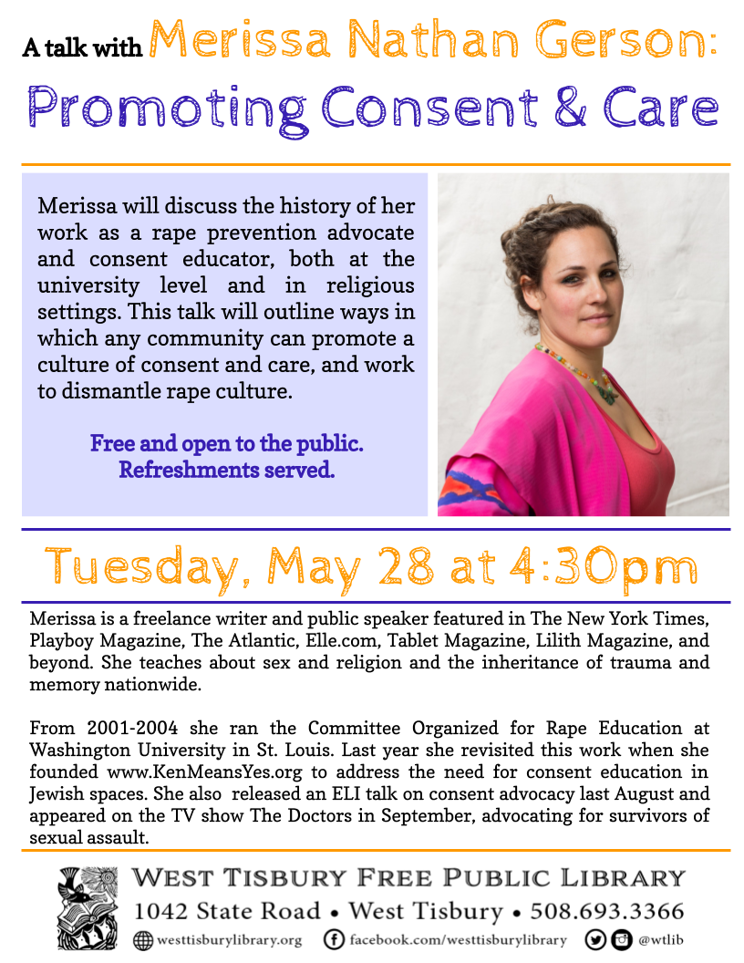 Promoting Consent and Care: A Talk with Merissa Gerson