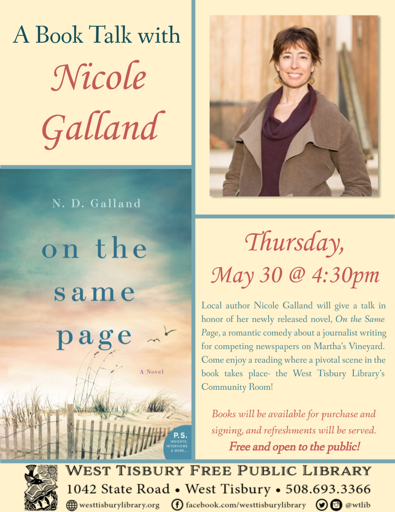 Book Talk with Nicole Galland