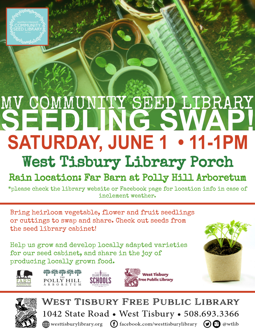 Annual MV Community Seed Library Seedling Swap!
