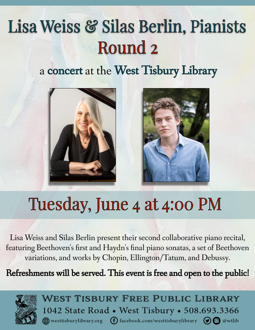 Lisa Weiss and Silas Berlin, Pianists: Round Two