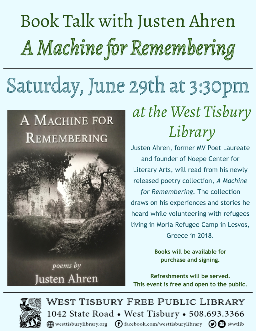Book Talk with Justen Ahren: A Machine for Remembering