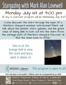 Stargazing at the Grange with Mark Alan Lovewell
