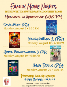 August Family Movie Nights