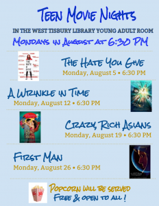 August Teen Movie Nights