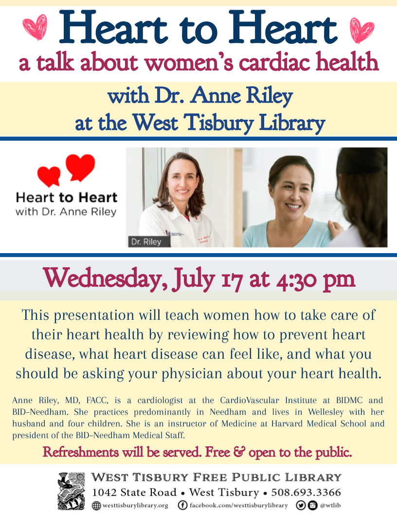 Heart to Heart: A Talk with Dr. Anne Riley