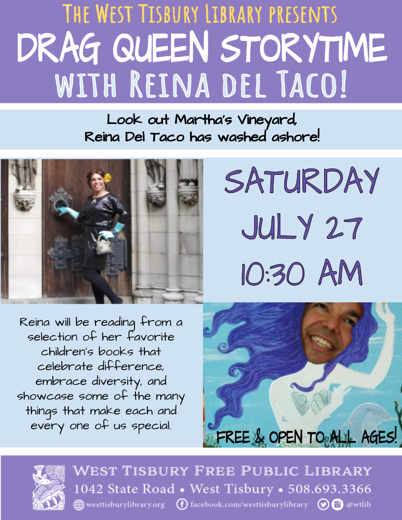 Drag Queen Storytime with Reina del Taco!