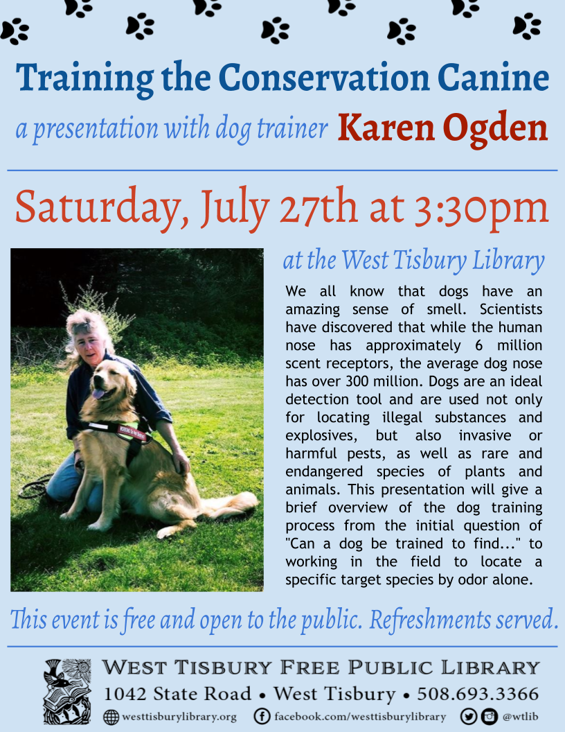 Presentation: Training the Conservation Canine