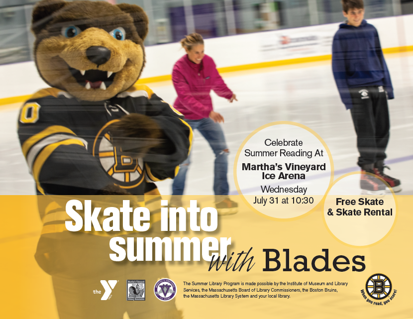 Free Skate with Bruins' Mascot, Blades! (at the MV Ice Arena)