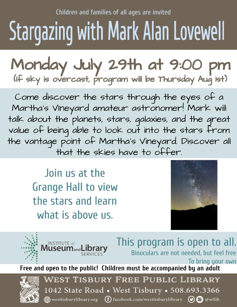 Stargazing with Mark Lovewell at the Grange Hall