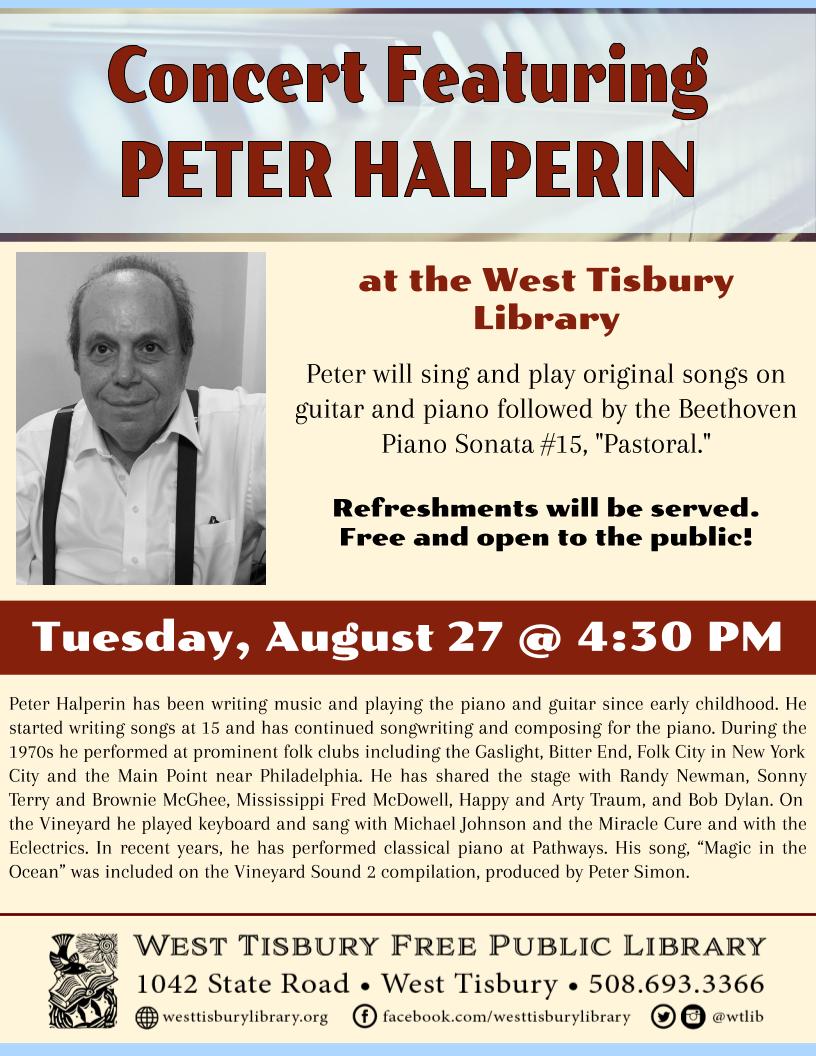 Concert Featuring Peter Halperin