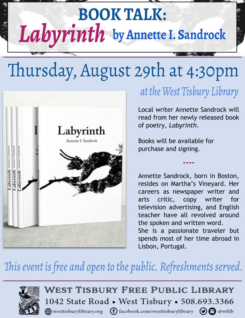 Book Talk with Annette Sandrock: Labyrinth