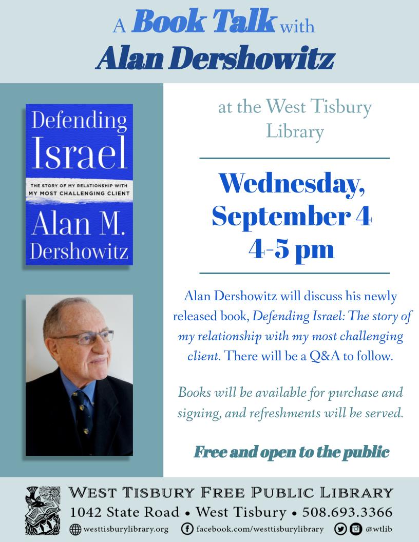 Book Talk with Alan Dershowitz