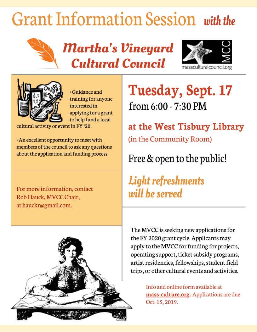 Info Session with the Martha's Vineyard Cultural Council