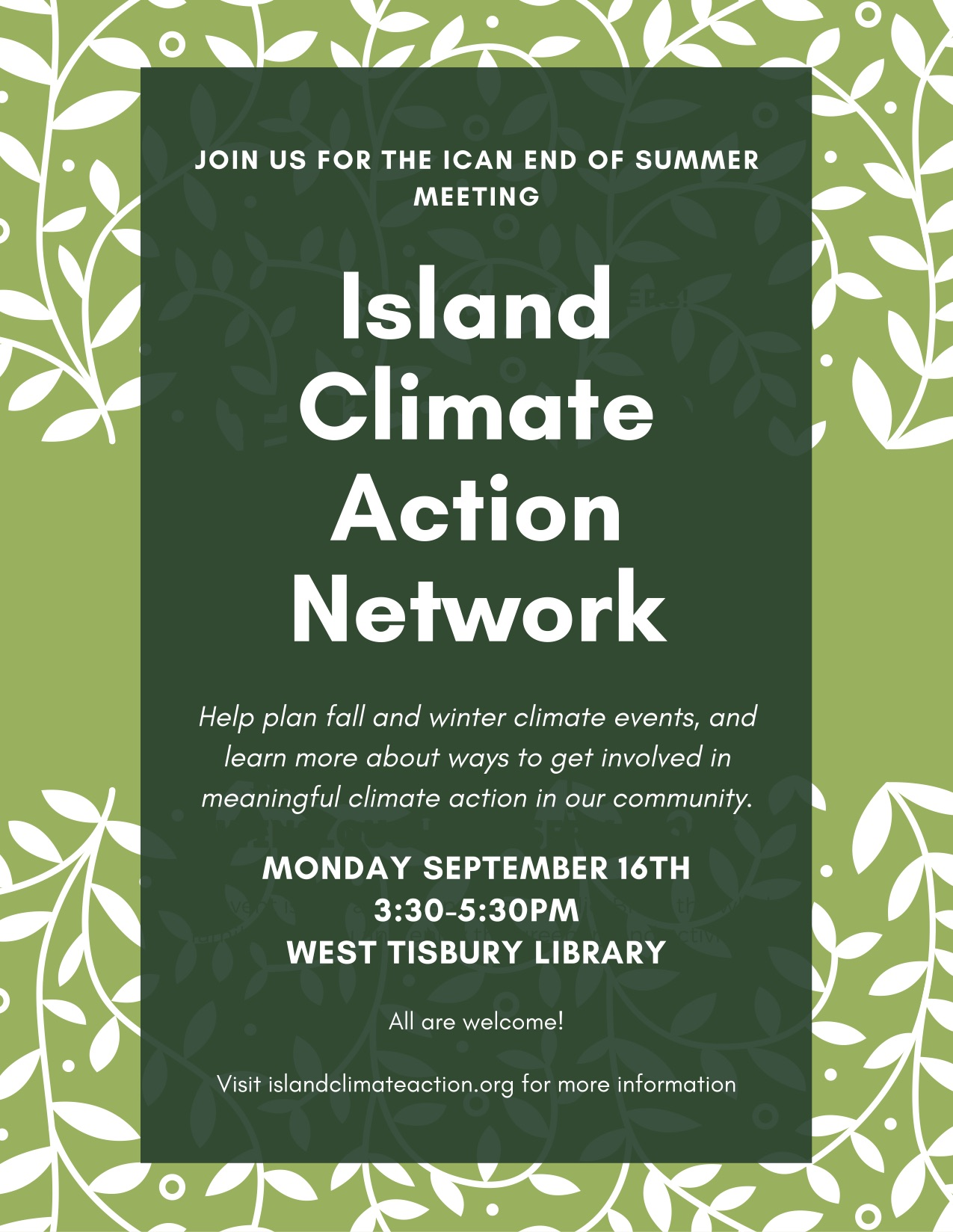 Island Climate Action Network Meeting