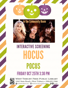 Interactive screening of Hocus Pocus