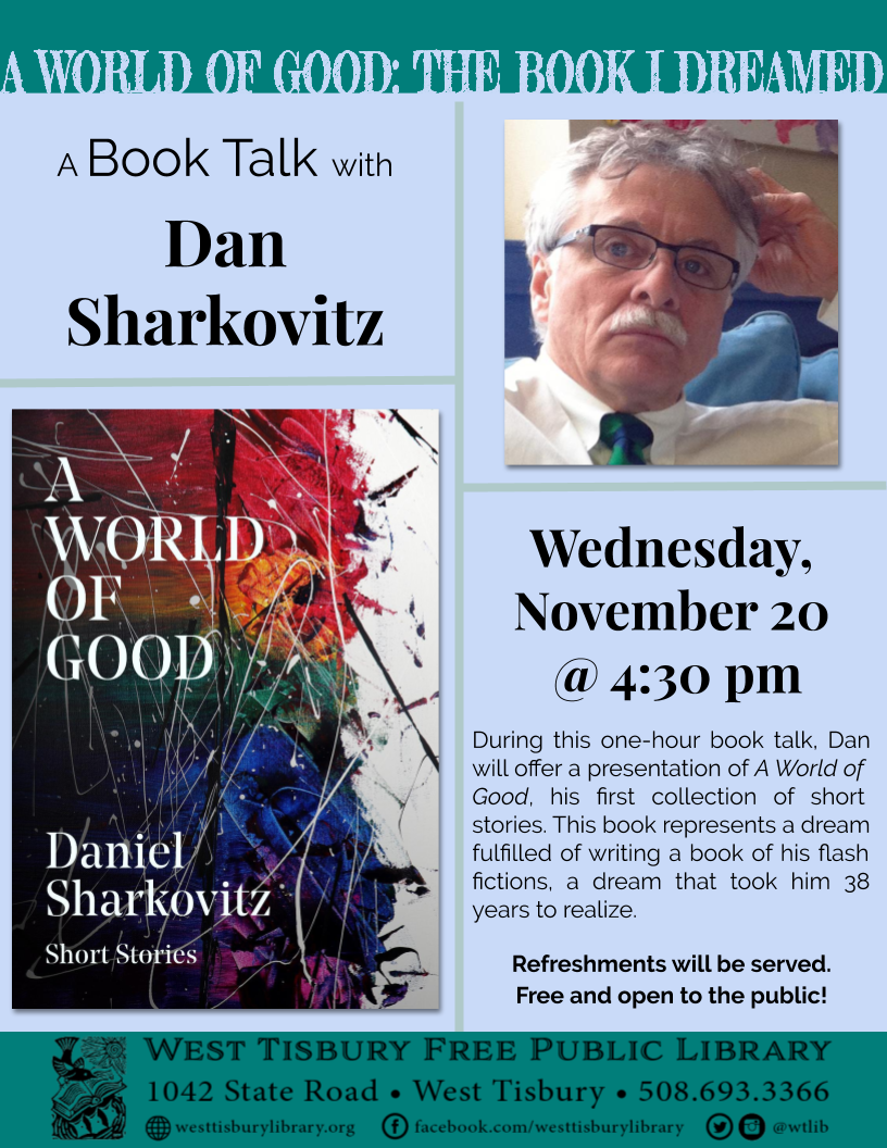 Book Talk with Dan Sharkovitz