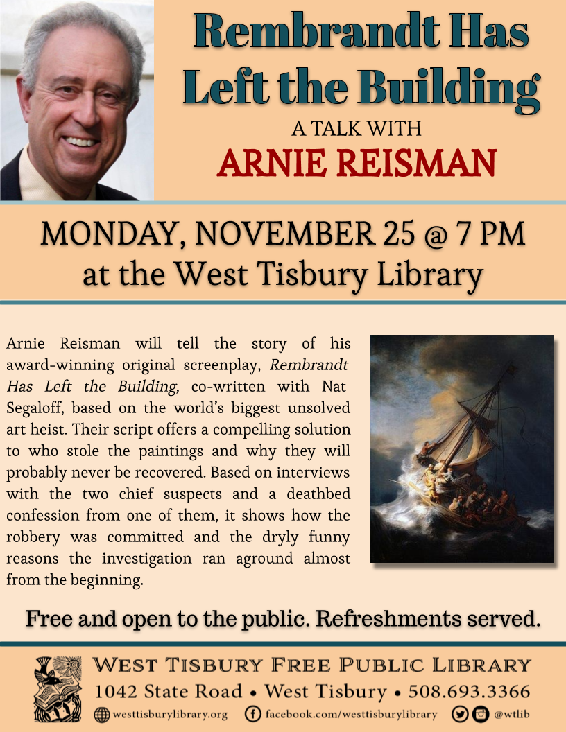 Rembrandt Has Left the Building: A Talk with Arnie Reisman