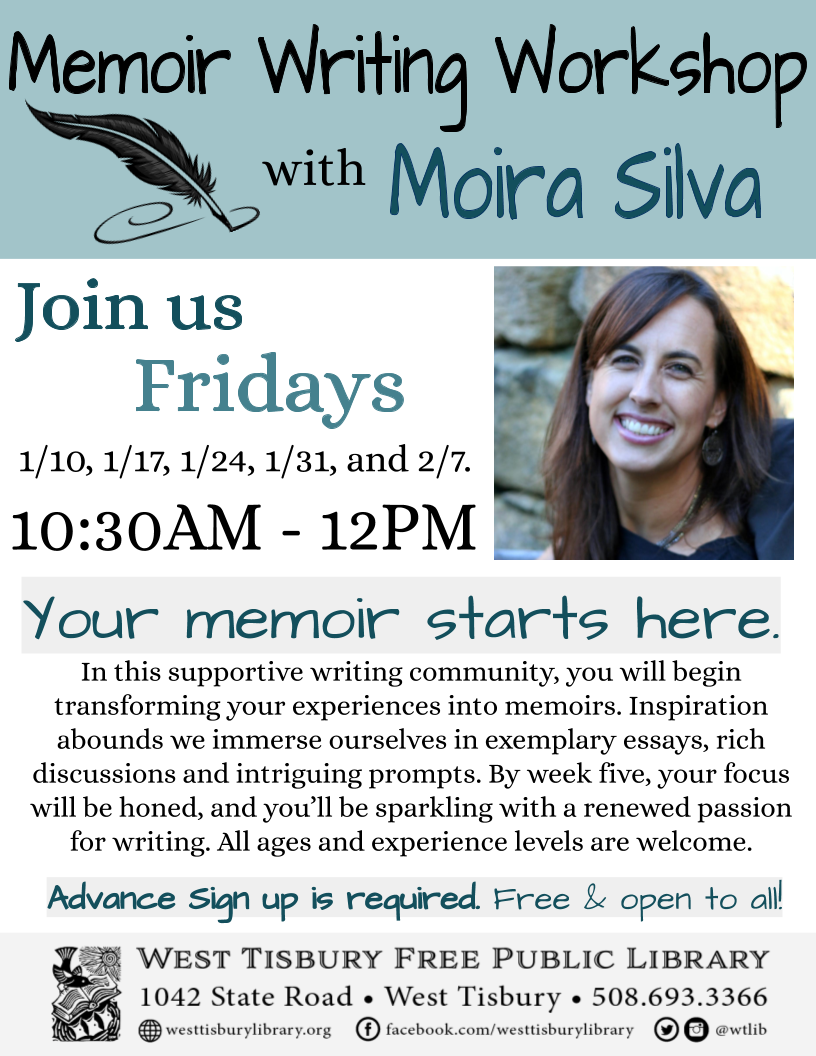 Memoir Writing Workshop with Moira Silva