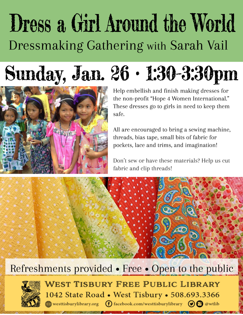 """Dress a Girl Around the World"" Dressmaking Gathering"