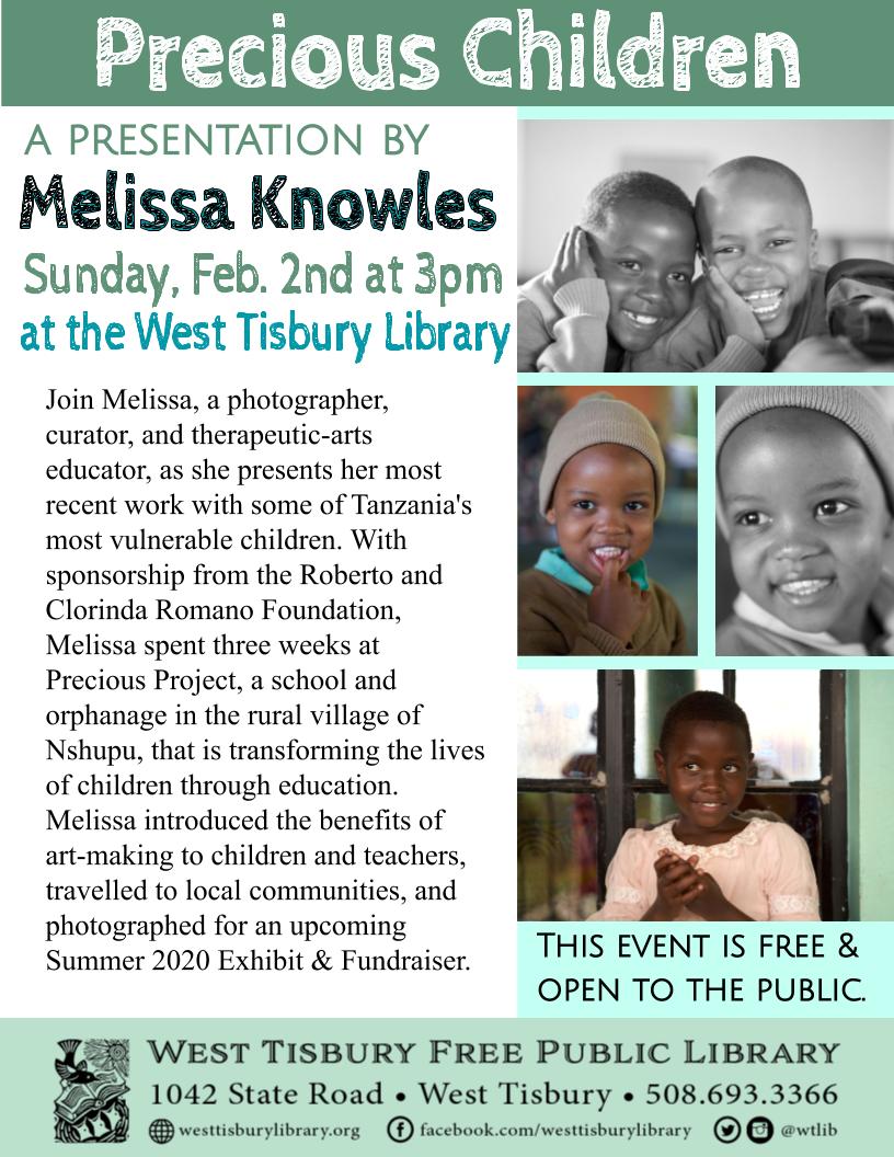 Precious Children: A Presentation with Melissa Knowles
