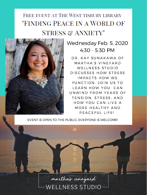 """""""Finding Peace in a World of Stress and Anxiety"""" - A Talk with Dr. Kay Sunakawa"""
