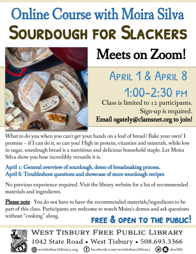 "Livestream Course: ""Sourdough for Slackers"""