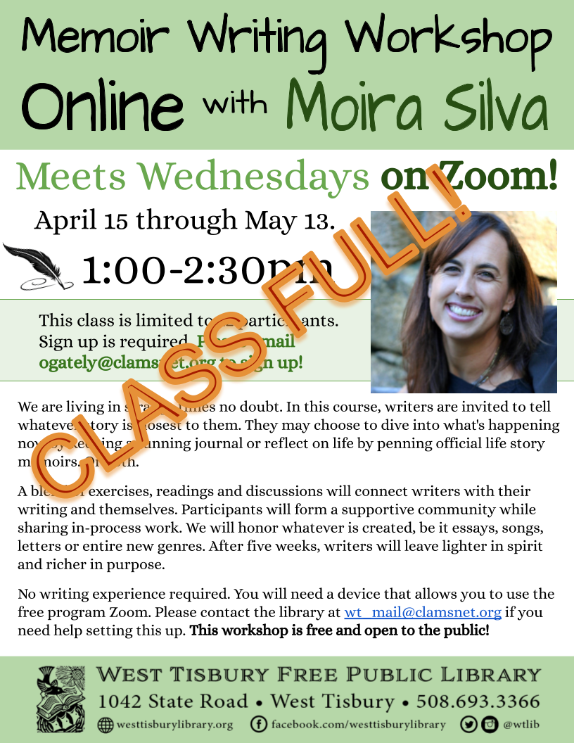 CLASS FULL! Online Memoir Writing Workshop