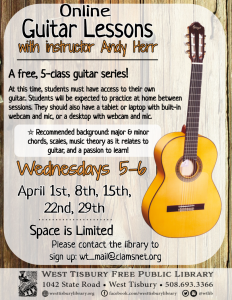 CLASS FULL Online Guitar Lessons- With Instructor Andy Herr