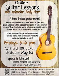 CLASS FULL Online Guitar Lessons with Andy Herr