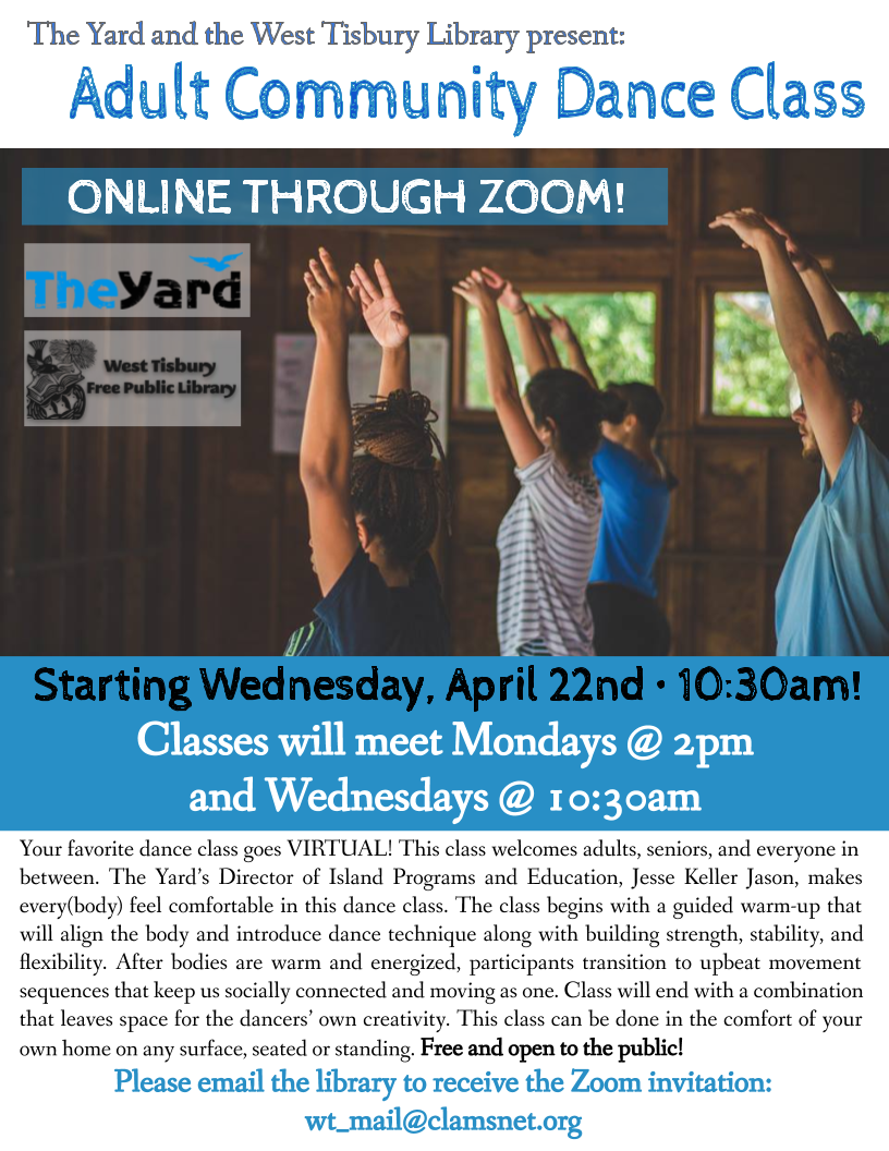 Online! Adult Community Dance Class with The Yard