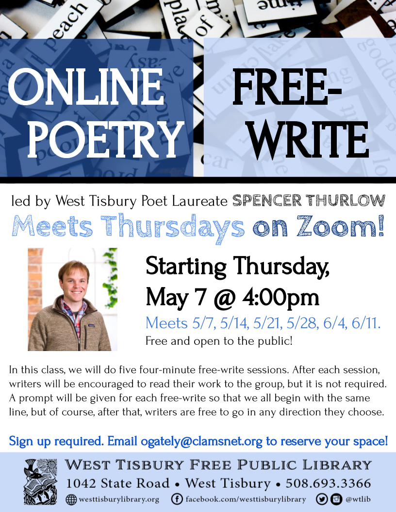 CLASS FULL! Online Free-Write Poetry Class - Series 2