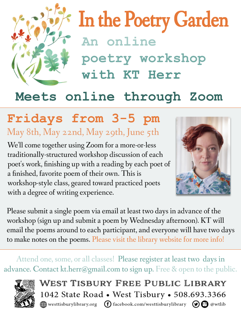 In the Poetry Garden: An Online Poetry Workshop