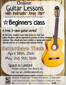 CLASS FULL- Online Beginners' Guitar Lessons with Andy Herr
