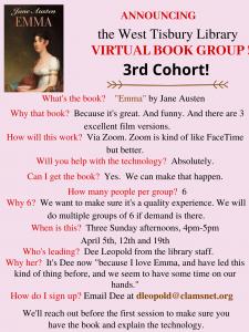 """Online Book Club """"Emma"""""""