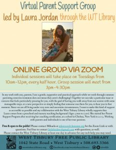 ONLINE Individual Parent Support Group with Laura Jordan