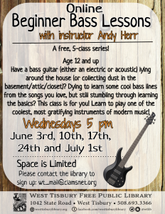 Online Beginner Bass Class (5-class series) with Andy Herr