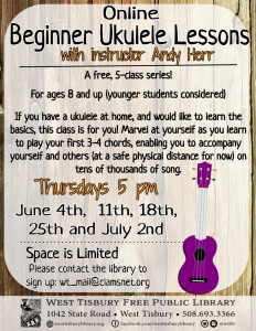 Online Beginner Ukulele Class (5-class series) with Andy Herr