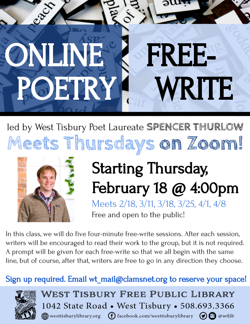 Online Free-Write Poetry Class - Series 8