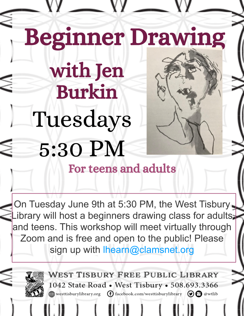 Virtual class: Beginner Drawing for adults and teens