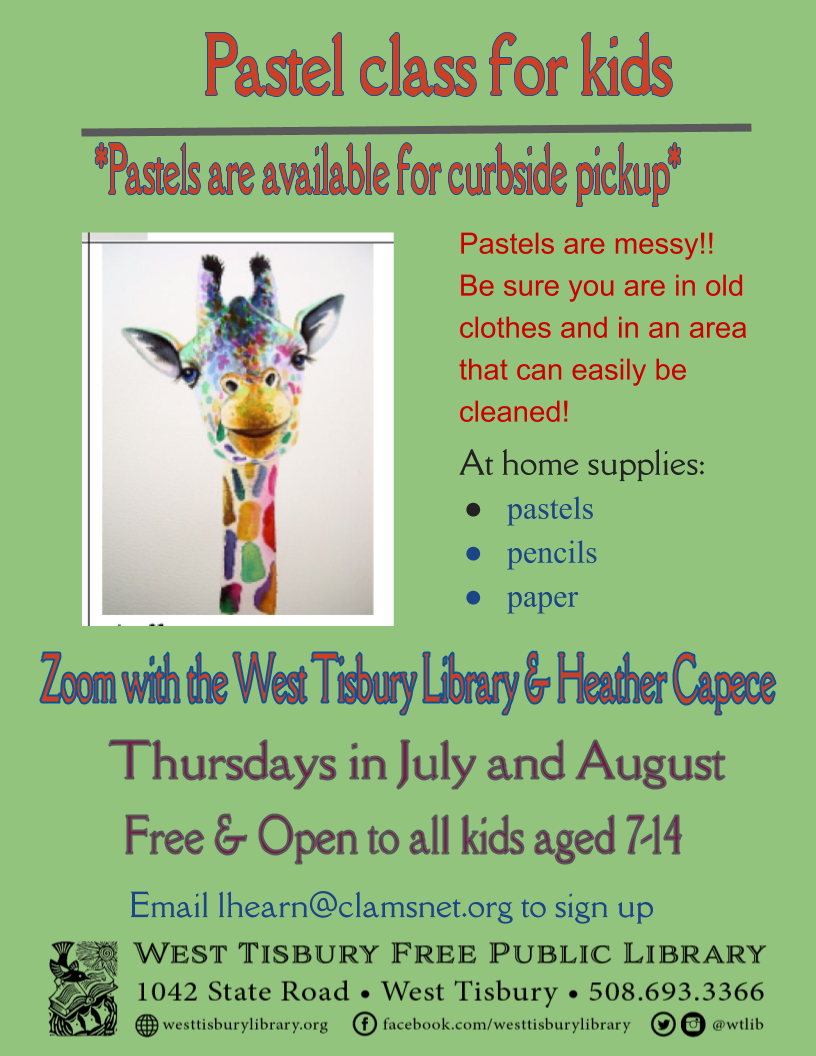 Virtual pastel class for kids aged 7-14
