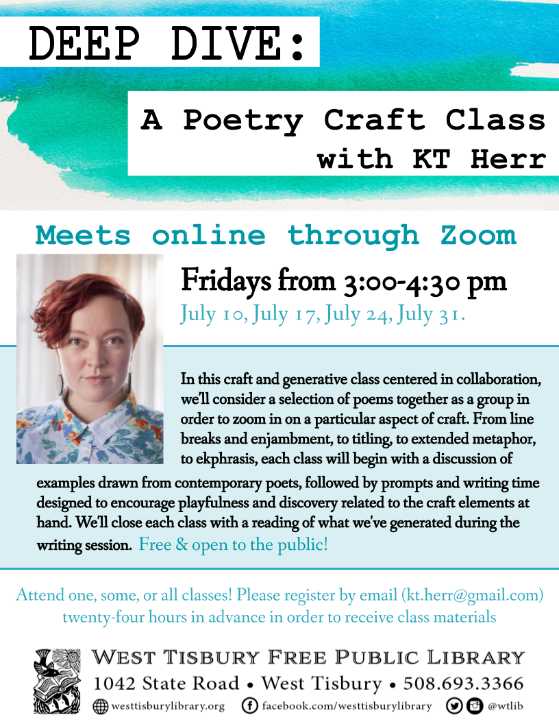 Deep Dive: A Poetry Craft Class