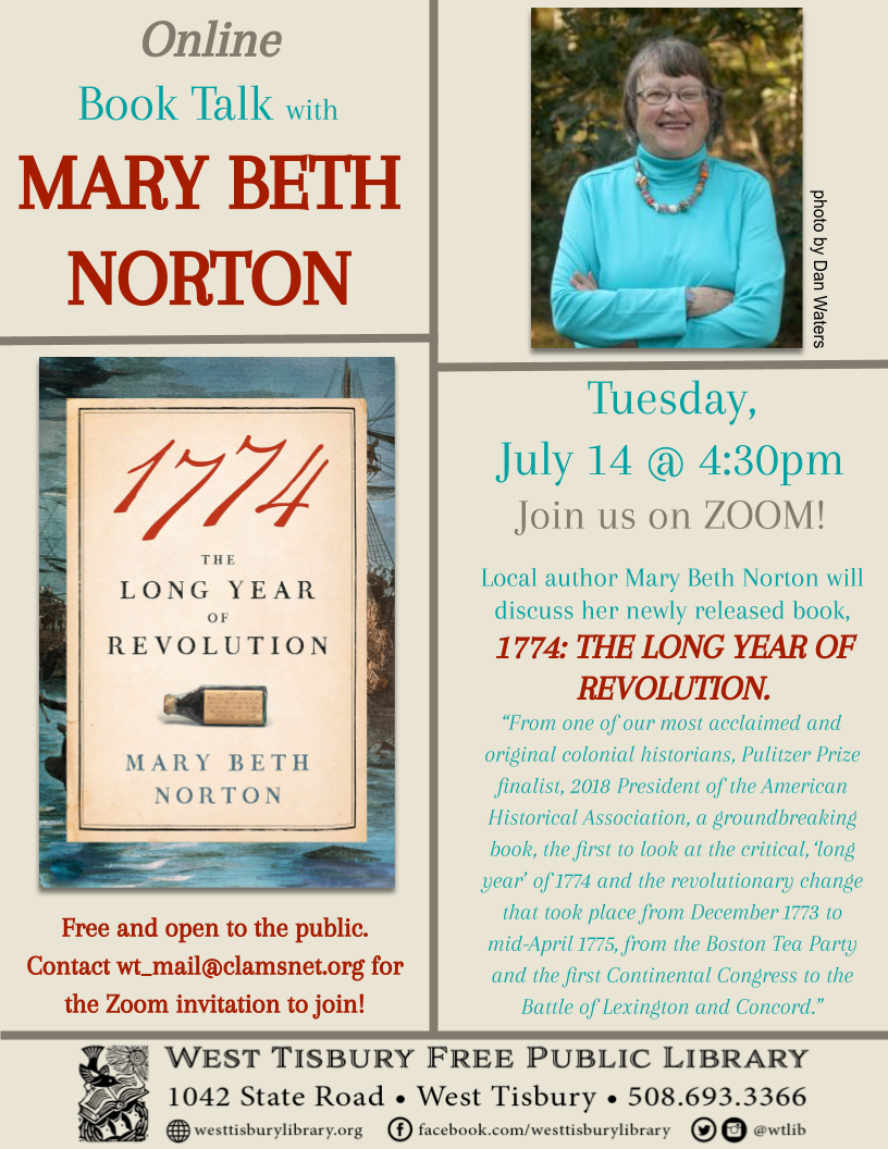 Online Book Talk with Mary Beth Norton
