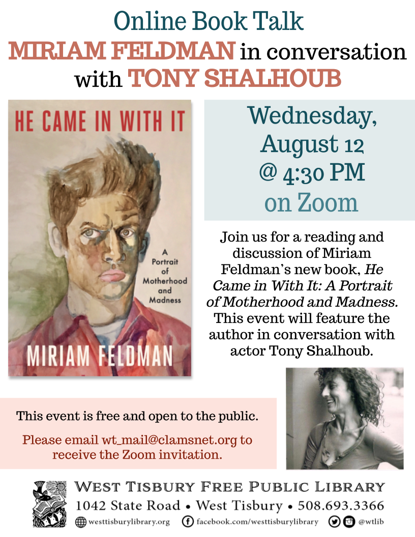 Online Book Talk: Miriam Feldman in Conversation with Tony Shalhoub