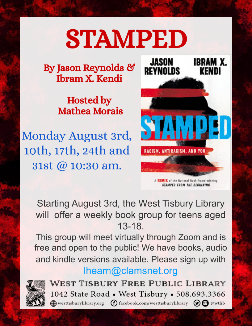 STAMPED-Teen book group with Mathea Morais on Zoom