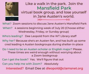 Virtual Book Group - Mansfield Park